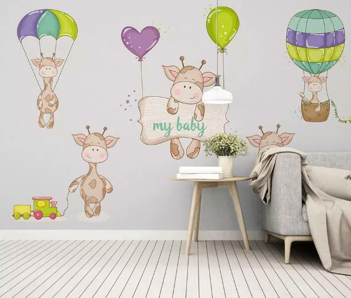 3D Cartoon Deer I2342 Wallpaper Mural Sefl-adhesive Removable Sticker Wendy