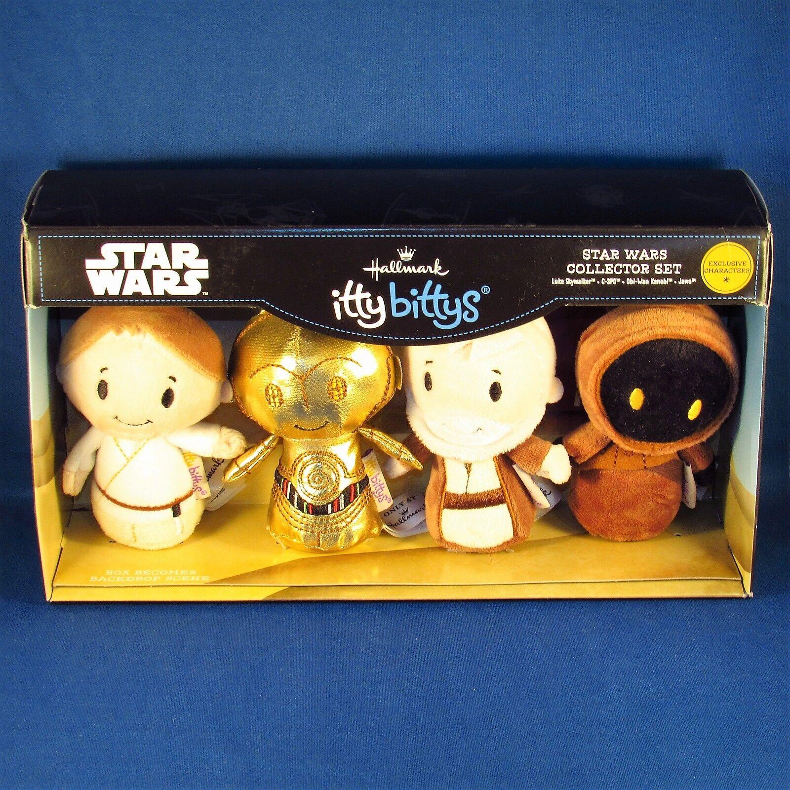 Hallmark - Itty Bittys - stjärnornas krig - Luke Sykpromänader, C -3PO, Obi -Wan Kenobi, Jawa