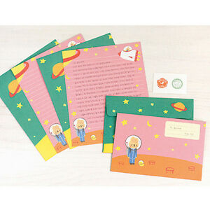 image is loading cute universe rabbit letter set 4sh writing stationery