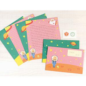 cute universe rabbit letter set 4sh writing stationery paper