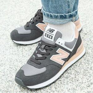 Details zu New Balance WL574 Sneaker Damen Damenschuhe Schuhe Turnschuhe  Grau Rosa WL574NDB
