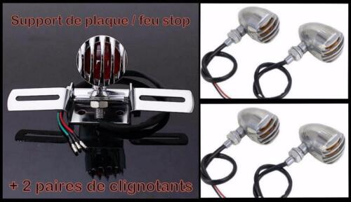 1 Paires Clignotants Métal avec grille Chrome  Sportster Iron forty custom