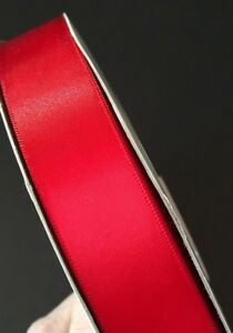 """DOUBLE FACE SATIN RIBBONS 100/% POLYESTER 1.5/"""" 7//8/"""" 5//8/"""" 3//8/"""" WIDE 50//100 YARDS"""