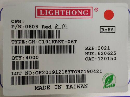 100pcs 0603 super bright orange smd led 1.6mm×0.8mm usa ship