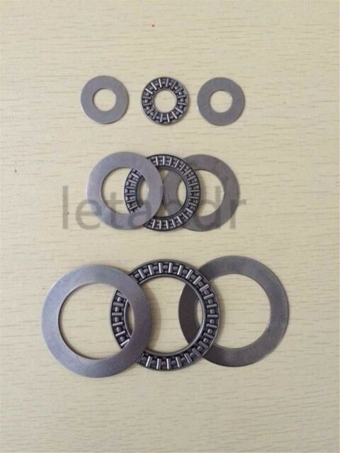1//2//5 pc AXK Series Flat Needle Roller Thrust Bearing complete with 2 AS washers