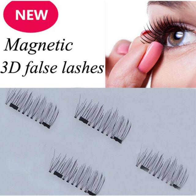 23cdf676fe4 4Pcs/2 Pairs 3D Magnetic False Eyelashes Natural Eye Lashes Extension Top  Sale