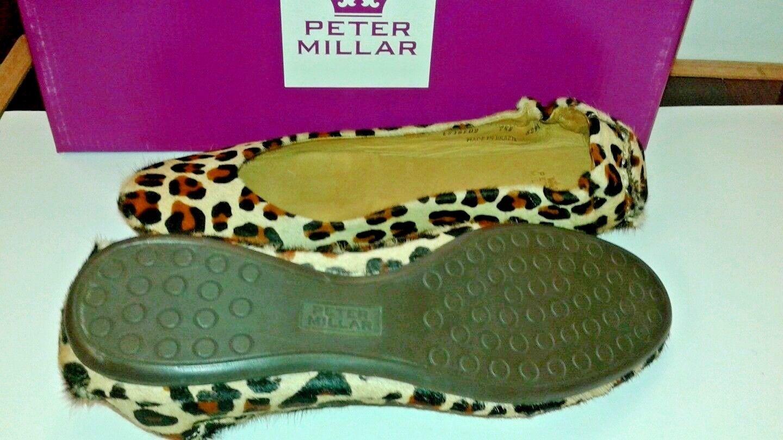 Peter Millar Flats pony hair hair hair Leopard flats select Größe 2d7f51