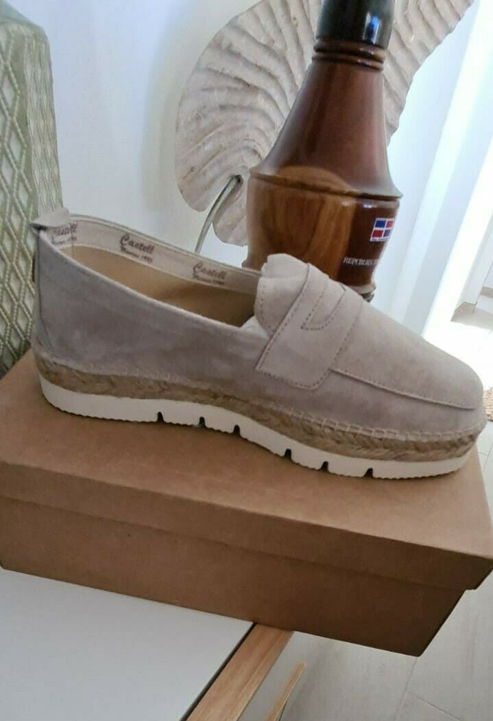 Shoes Of Design Mens Size 44 Leather Moccasin Beige