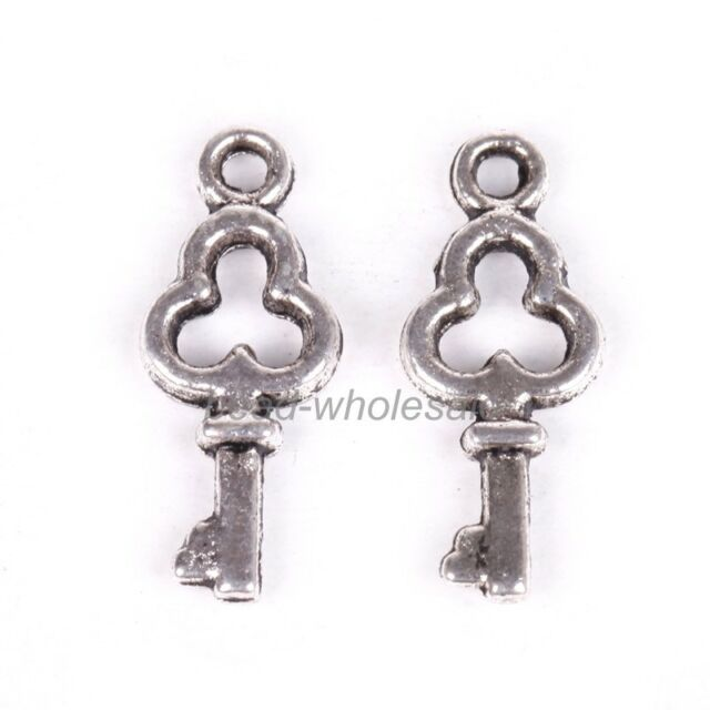 30pcs Love Small Key Findings Antique Silver Charms Pendant New Hot