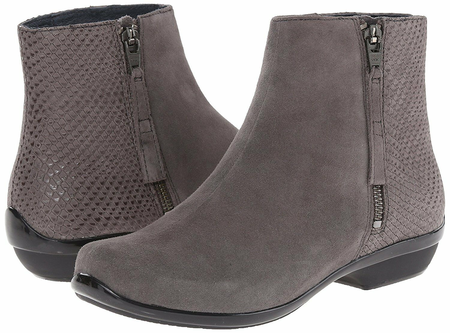 NEU DANSKO WOMEN'S OTIS ZIPPER ANKLE BOOTS GREY KID SUEDE Größe 38  170