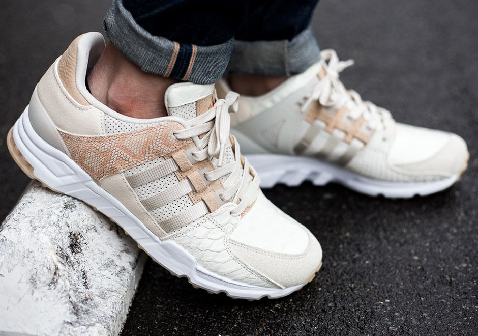 Adidas EQT Running Equipment Support Oddity Luxe Chalk White Leather Originals