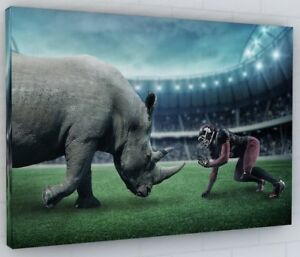 SPORTS RUGBY STADIUM ABSTRACT RHINO CANVAS PICTURE PRINT #2750