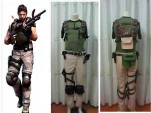 Details About Resident Evil 5 Chris Redfield Cosplay Costume