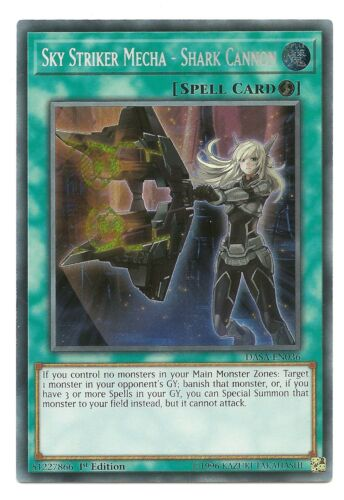 Shark Cannon DASA-EN036 Secret Yu-Gi-Oh Card 1st Near Mint Sky Striker Mecha