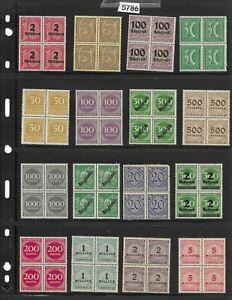 #5786   Vintage Unused 32 different Unused stamp blocks before 1930 / GERMANY