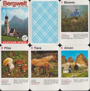 Piatnik-Spielkarten-034-Bergwelt-034-1976-G-Quartett-Nr-4202-Z-1-2