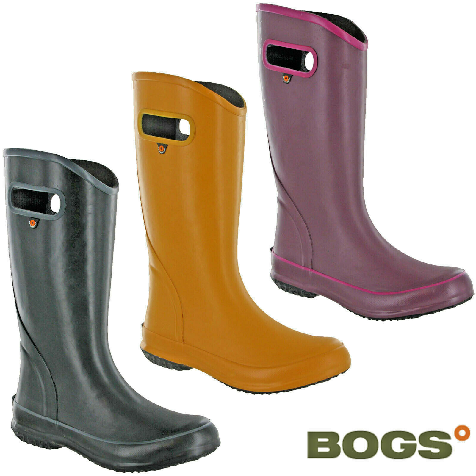 Bogs women boots waterproof rubber flexible lightweight summer solid boots
