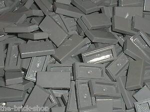 10 x LEGO DkStone tile 1x2 ref 3069b 10186 7041 10182 10211 10185 10176 6210