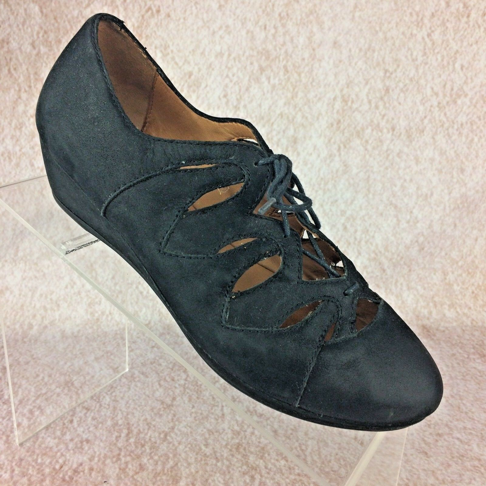Damenschuhe GENTLE SOULS 6.5M NYE Nubuck Lace-Up Wedge Leder 1.5
