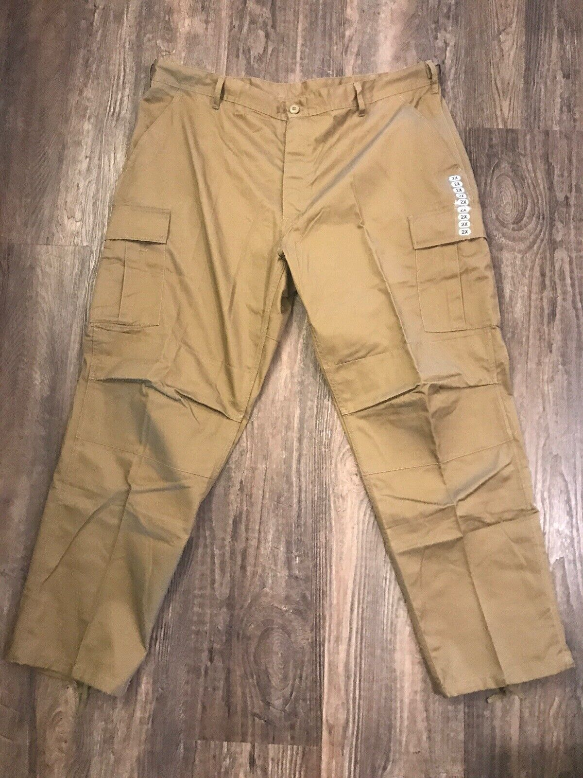 redhco BDU Pants XXL Paratrooper Tactical Cargo Adjustable Ranger Outdoor Coyote
