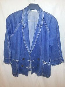 af 1980's Jacket Jean Gæt Blue Vintage Ladies Denim 12 Sz Marciano 46xxIwdqO