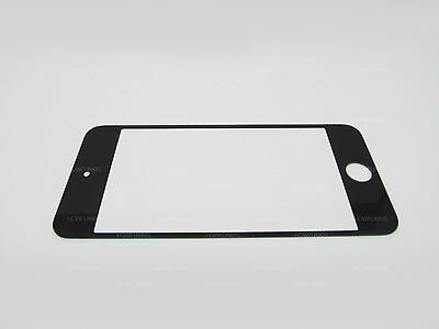 BLACK iPOD TOUCH 5 5G FRONT GLASS LENS REPLACEMENT OUTER SCREEN NEW USA
