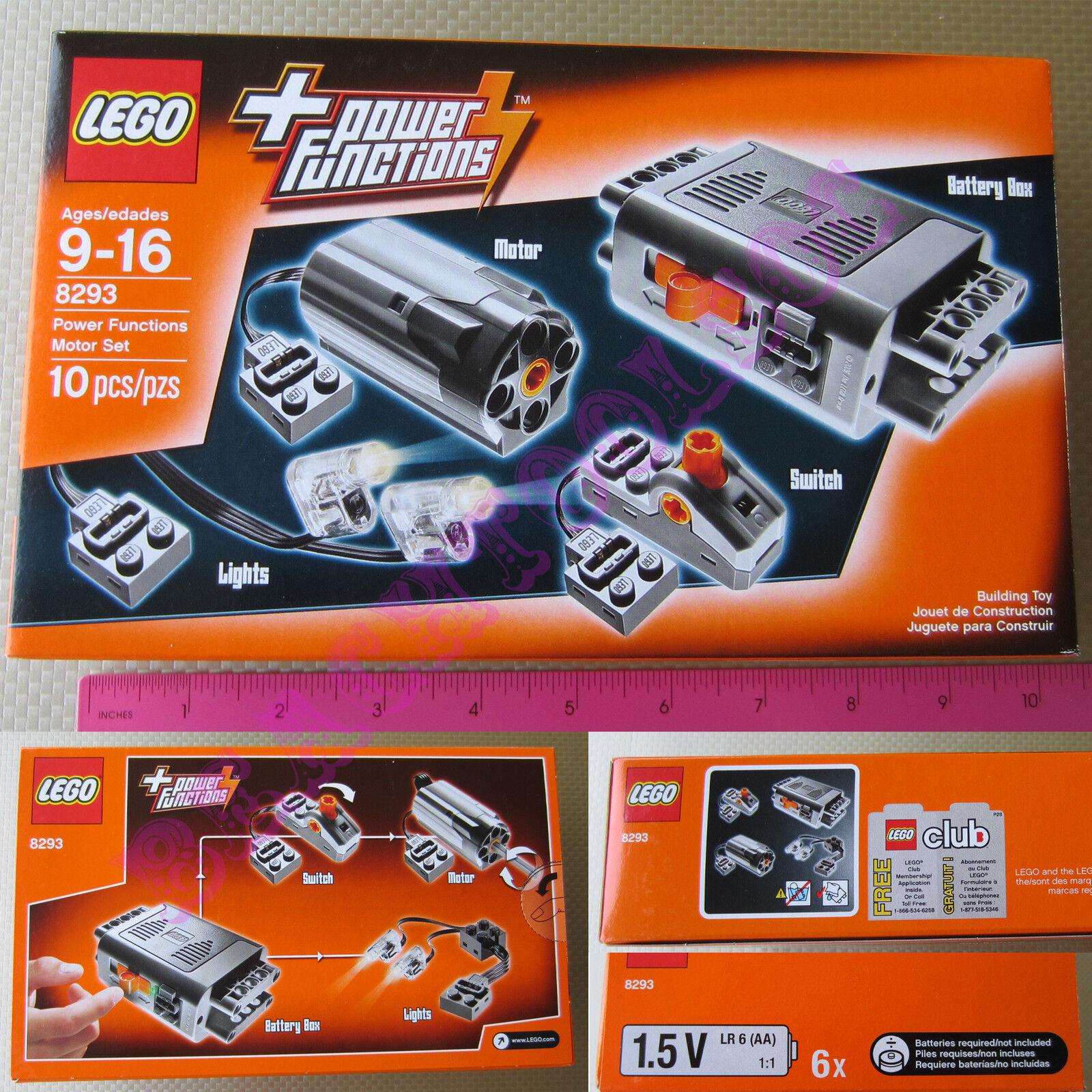 New LEGO TECHNIC Power Functions Motor Accessory Set 8293 - Battery Box M-Motor