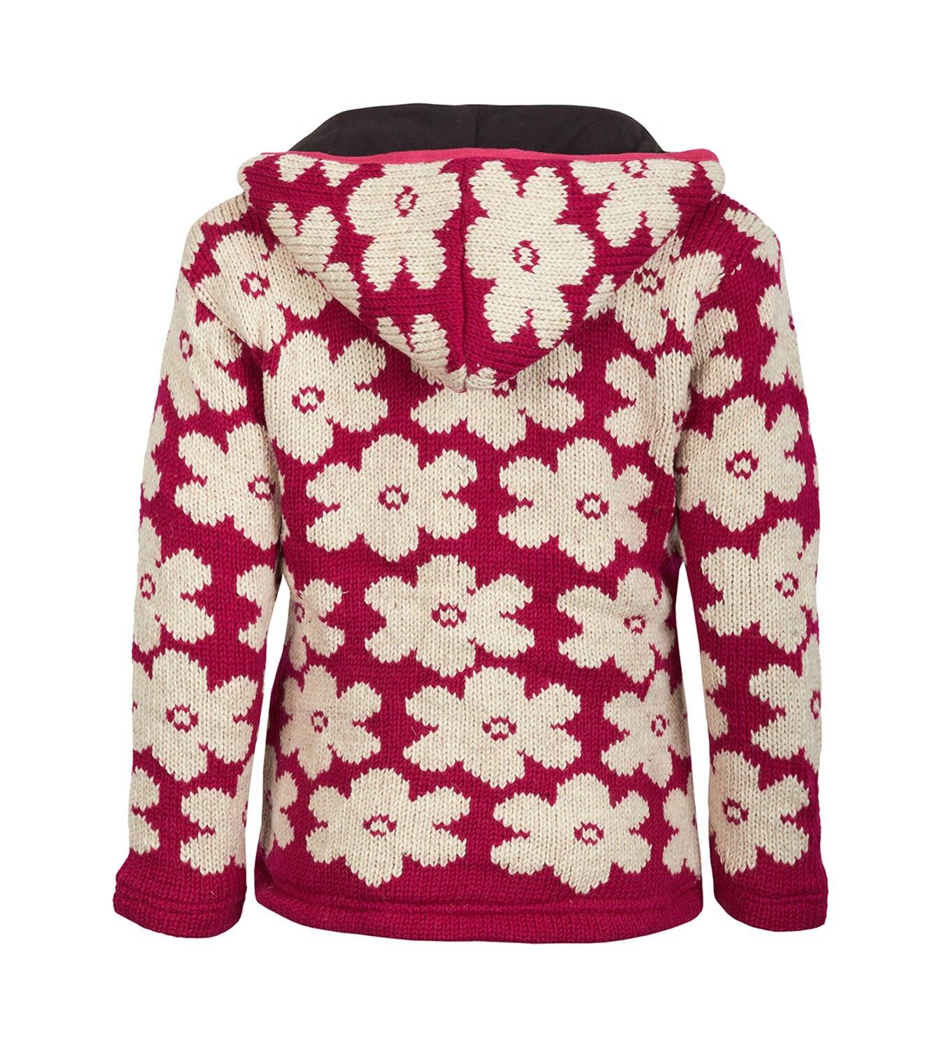 Kunst Und Magie Goa Flower Ladies Nepal Cardigan Poncho Sweater Sweater Sweater Wool Winter 1c25a0