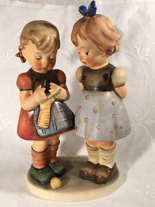 "Goebel Hummel Figurine TMK5 #256 ""Knitting Lesson"" 7.50"" Tall"