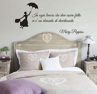 Wall Stickers Frase Adesivo Murale Mary Poppins Walt Disney