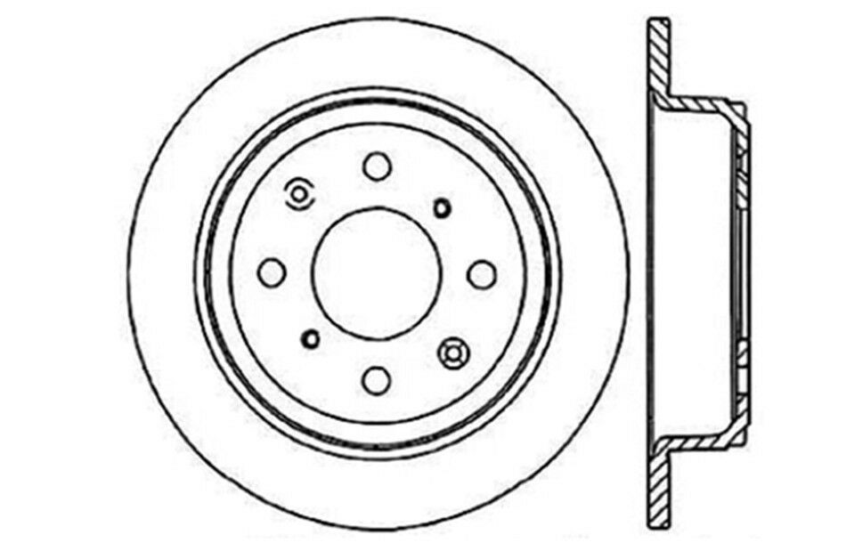 Disc Brake Rotor C Tek Standard Brake Rotors Centric 121 40017 For