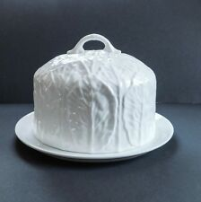 Coalport Countryware White Cabbage Leaf Cheese Bell Dome Cake Server Wedgwood