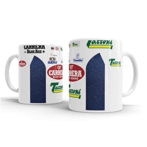 Coaster Carrera Retro Jersey Mug Bike Ninja Cycling Roche Chiappucci