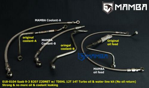 Turbo Oil /& Water Line Saab 9-3 AERO B207R Z20NET TD04L 12T 14T No oil return