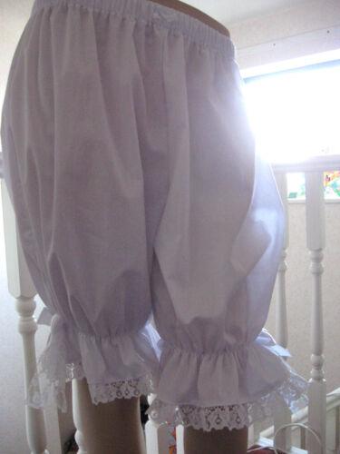 Rouge Rose Blanc Vert Noir Violet Long Dentelle bloomers pantalon 24,26,28,30