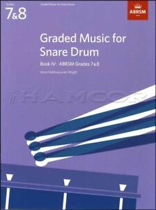 Classé Music For Snare Drum Book 4 Abrsm Grade 7-8 Examen Music Same Day Dispatch-afficher Le Titre D'origine