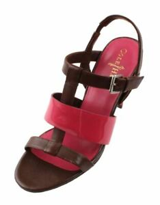 Cole-Haan-Air-Lainey-Womens-Chstnt-Rock-Patent-Leather-High-Heels-Sandals-sz-6-5