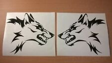 LARGE vinyl car stickers tribal wolf head flames side graphics decals bonnet vw