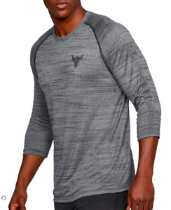 The Rock NEW Under Armour Men/'s UA X PROJECT ROCK ¾ UTILITY SHIRT Size M