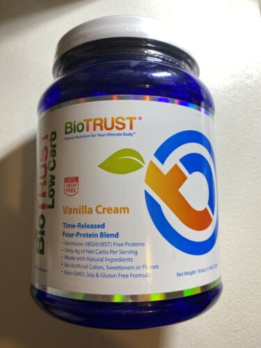BIO TRUST LOW CARB FOUR PROTEIN Blend Time Release Powder VANILLA CREAM 18.6