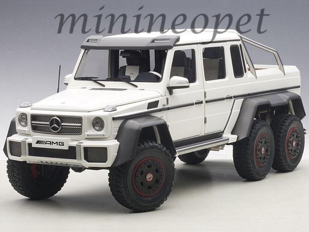 AUTOart 76303 MERCEDES BENZ G63 6X6 1/18 MODEL CAR MATTE bianca