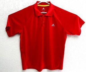 Adidas-Mens-Red-ClimaLite-Golf-Polo-Short-Sleeve-Shirt-Size-Large-EUC
