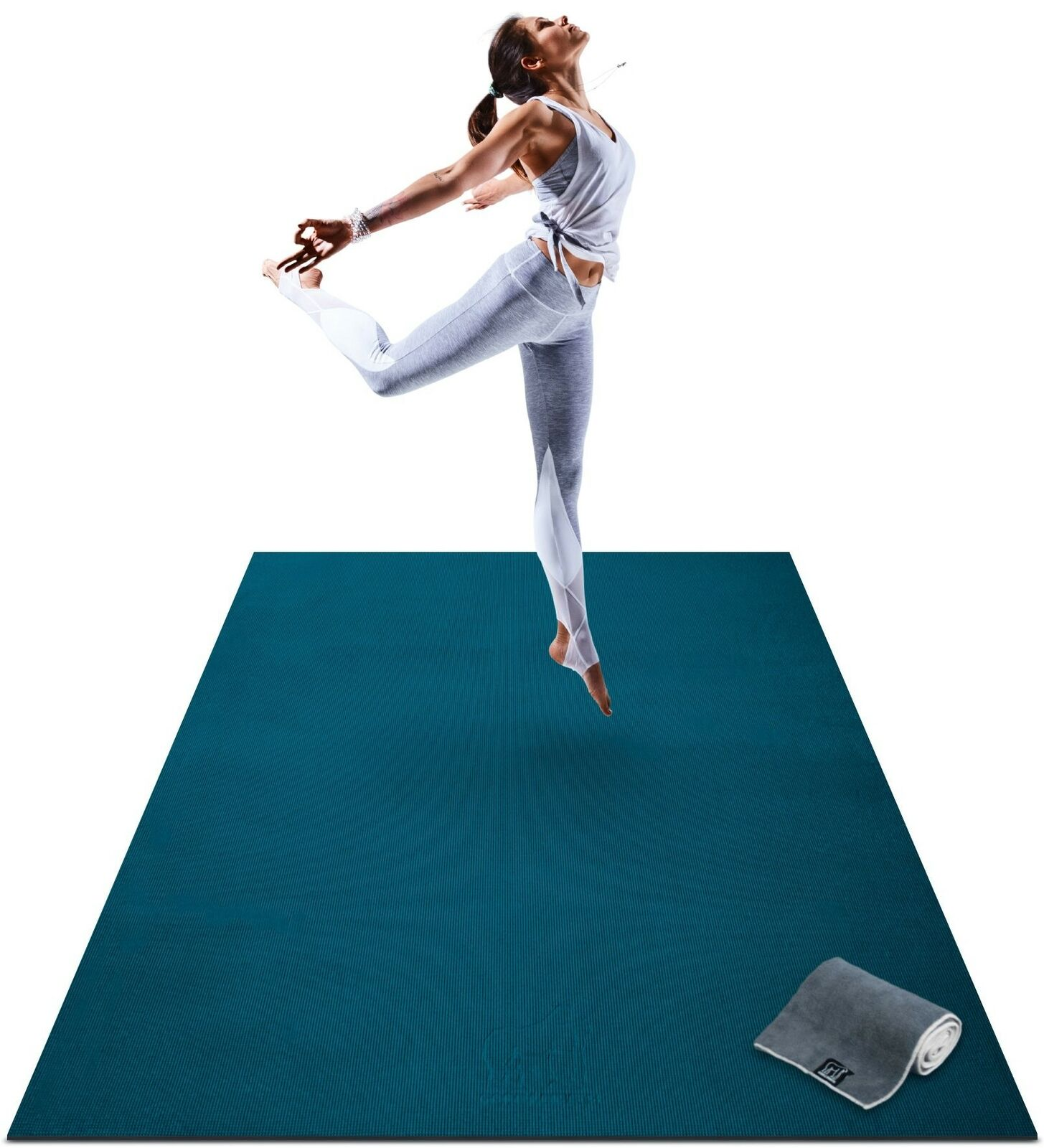 Premium Extra Large Yoga Mat - 6' x 4' x 8mm Extra Thick & Comfortable Blau