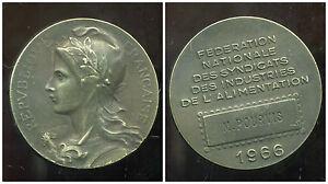 Médaille Fédération Nationale De L'alimentation 1966 ( Diametre 4 Cm )