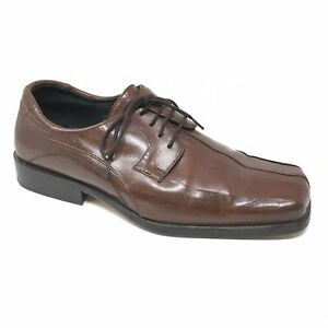 Men-039-s-Giorgio-Brutini-Oxfords-Dress-Shoes-Size-8M-Brown-Leather-Bicycle-Toe-F9