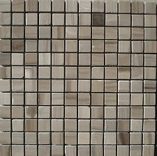 Marmor Mosaik Fliese grau 30x30x0,8cm 2,3x2,3cm Naturstein Bad Dusche