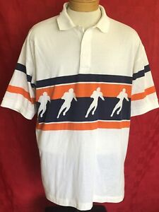 VINTAGE-1970s-NFL-AFL-Footvall-polo-shirt-Chicago-Bears-colors-XL-A-II-Apparel