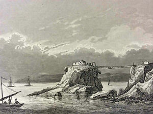 Tip-and-Fortified-Castle-of-Bertheaume-Brest-First-half-Xixth-Finistere