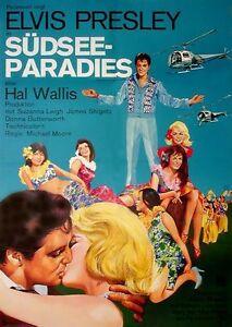Elvis Presley Suzanna Leigh Südsee Paradies Ea Filmplakat A1