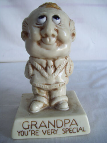 "1973 R & W Berries Co's ""Grandpa You're Very Special"" Figurine 5"" Tall"